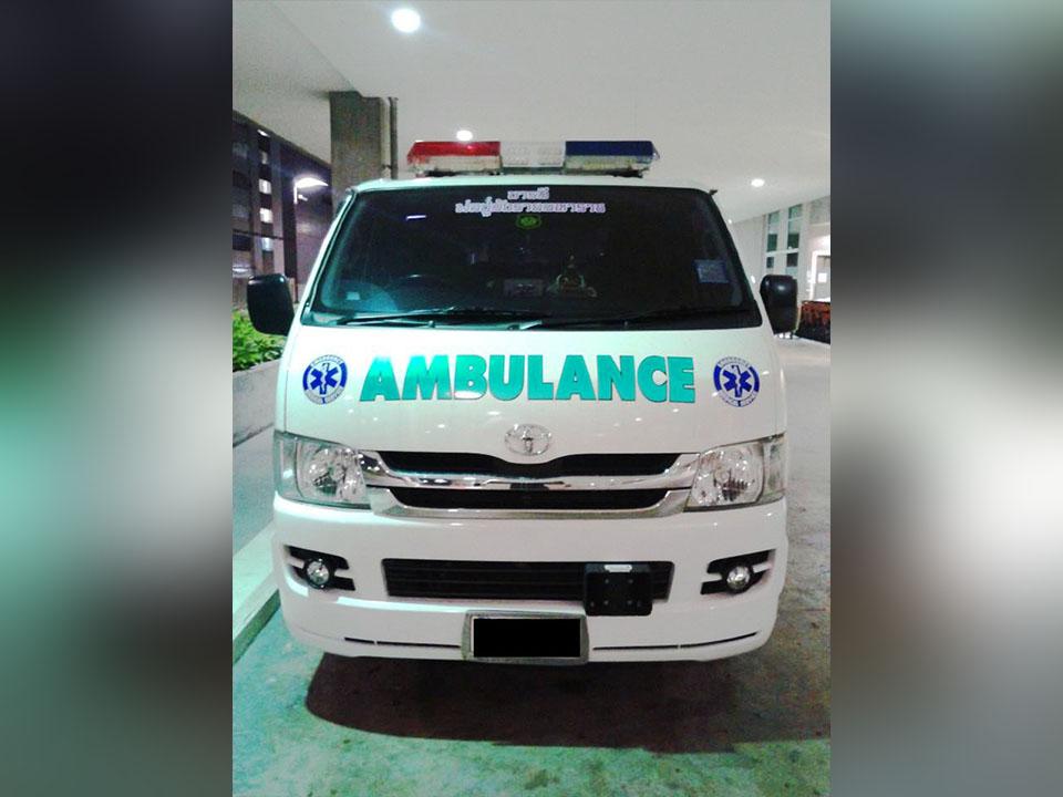 บริการของศูนย์รถพยาบาล BG.Ambulance
